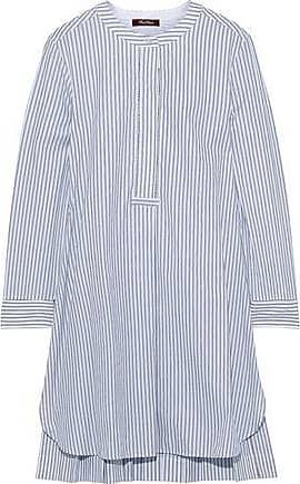 0fd19fff1 Max Mara Max Mara Woman Carisma Striped Cotton-poplin Mini Shirt Dress  Light Blue Size
