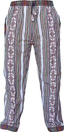 Gheri Edge Printed Cotton Fleecelined Loose Elastic Waist Lounge Wear Trousers Pant XX-Large