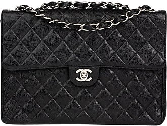 d797fe0f62bf Chanel 2001 Chanel Black Quilted Caviar Leather Classic Jumbo Flap Bag
