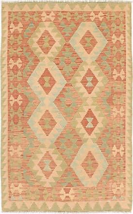 Nain Trading 153x98 Hand Woven Kilim Afghan Beige/Pink (Wool, Afghanistan)