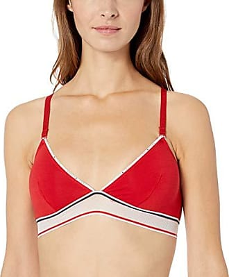 ab02cc490239 Tommy Hilfiger Womens Cotton Mesh Triangle Bralette Bra Bra, Apple red, S