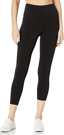 Jockey Womens Cotton Stretch Basic Capri Leggings, Deep Black, Large