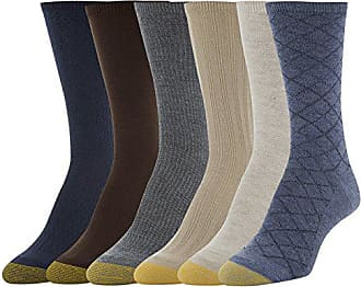 52a1fa72376e Gold Toe Womens Casual Texture Crew Socks, 6 Pairs, Denim Oatmeal  Herring/Khaki