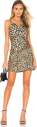 J.O.A. Cowl Neck Slip Dress in Brown