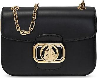 Lanvin Logoed Shoulder Bag Womens Black