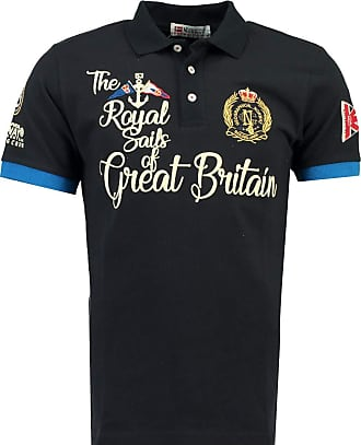 Geographical Norway King Men Polo Shirt Blue