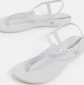 Ipanema Pop - Flache Sandalen in Weiß glitzernd
