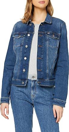 Tommy Jeans Womens Slim Trucker Jacket ADY, Blue (Audrey Mid Bl Str 1A5), 10 (Size:M)