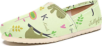 Tizorax Zoo Animals Alphabet Mens Slip on Loafers Shoes Casual Canvas Flat Boat Shoe