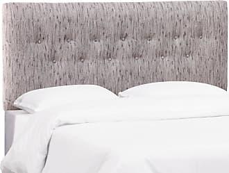 Skyline Furniture Button Headboard - Bronson Smokey Lavender, Size: Queen - 2792QBRNSNSMKYLVDR