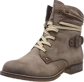 RIEKER STIVALI DONNA Stivaletti Stivali Coi Lacci Boots Rosa