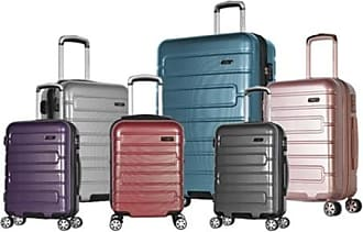 Olympia 22 USA Naples Polycarbonate Dual-Spinner Luggage - Crimson