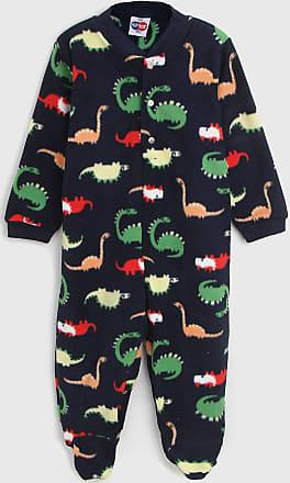 Tip Top Pijama Tip Top Longo Infantil Dinossauro Azul-Marinho