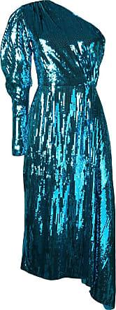 16Arlington Vestido assimétrico com paetês - Azul