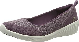 Skechers Womens Arya - Get Real Closed Toe Ballet Flats, Purple (Purple Pur), 3.5 UK (36.5 EU)
