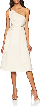 Little Mistress Womens Cream Skater Prom Dress, Beige, 10