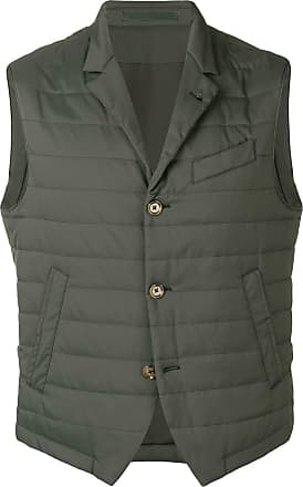 Eleventy slim-fit padded gilet - Green