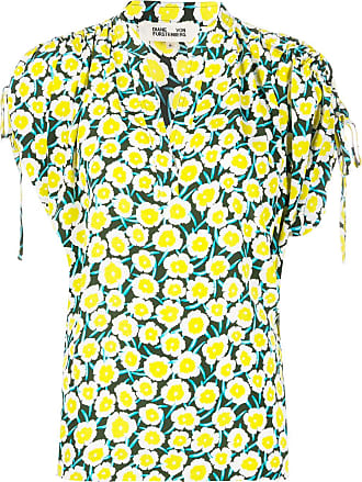 Diane Von Fürstenberg Blusa Daica com franzido nos ombros - Amarelo