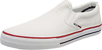 Tommy 100 Hilfiger Blanc White Textile Basses EU Sneakers Denim on 46 Slip Jeans Homme rUPwxqgr