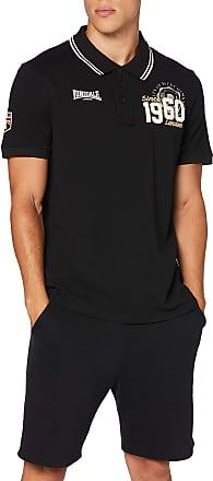 Lonsdale London Mens Sudbury Polo Shirt, Black, Medium