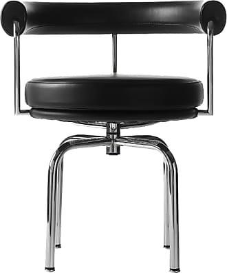 Cassina LC7 Armchair Chrome & Black
