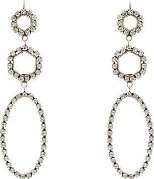 Isabel Marant Crystal-embellished Drop Earrings - Womens - Crystal