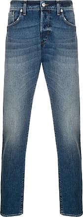 Department 5 Calça jeans reta com lavagem - Azul