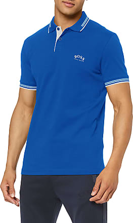 BOSS Mens Paul Curved Polo Shirt, (Bright Blue 436), Xx-Large
