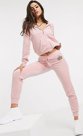 Juicy Couture Black Label Luxe Crown Velour Zuma Jogger in pink