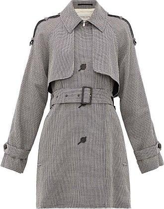 Golden Goose Serenity Short Houndstooth Trench Coat - Womens - Grey