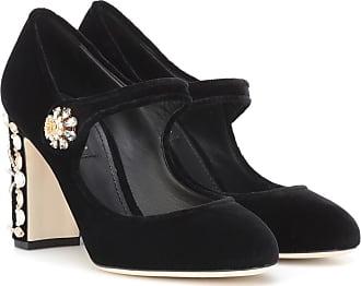 298d4fc00b965 Dolce   Gabbana Pumps Mary Jane in velluto con cristalli