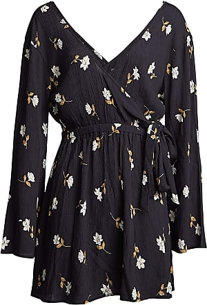 Billabong Side Out - Floral Mini Dress - Women - M - Black