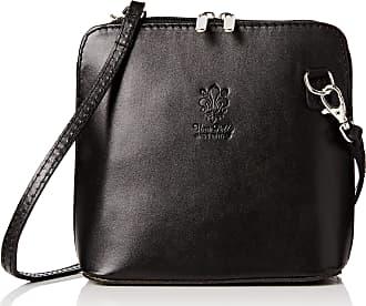 Craze London SALE SALE Genuine Italian Leather, Small/Mini Cross Body Bag or Shoulder Bag, Handbag, Vera Pelle (Black)