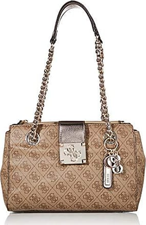 Guess Girlfriend Satchel Brown Esme BraunFashionette In Bag