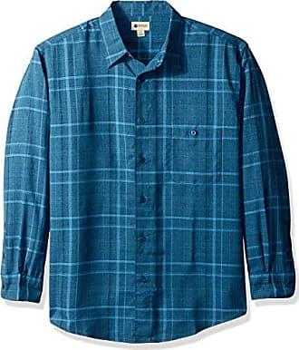Haggar Mens Long Sleeve Microfiber Woven Shirt, Chief gem Marl, S