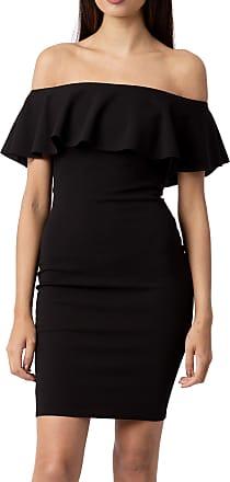 Women Frill Off Shoulder Bardot Midi Dress Ladies Peplum Ruffle Bodycon Top 8-14