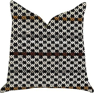 Plutus Brands Poppy Chic Woven Double Sided Luxury Throw Pillow 26 x 26 Black/Red/Green