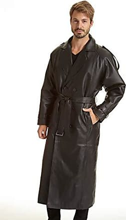 f19d2f21dc289 Excelled Excelled Mens Big and Tall Leather Trench Coat
