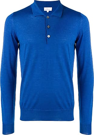 Brioni Camisa polo mangas longas - Azul