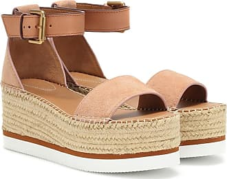 See By Chloé Glyn leather platform espadrille sandals