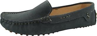 MGM-Joymod Womens Fashion Comfortable Dark Grey Suede Moccasins Driving Walking Loafers Flats Slide Boat Shoes 4.5 M UK