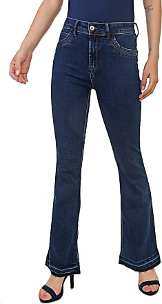 Dimy Calça Jeans dimy Bootcut Miriam Azul-Marinho