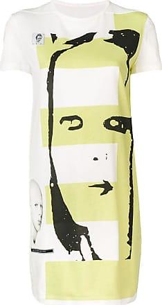 Rick Owens graphic print tunic - White