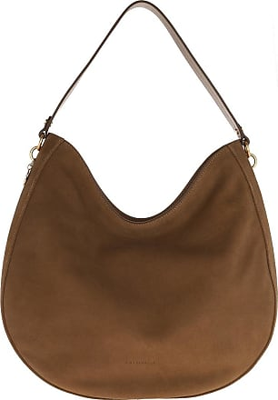 Coccinelle Alpha Suede Shopping Bag Tobacco