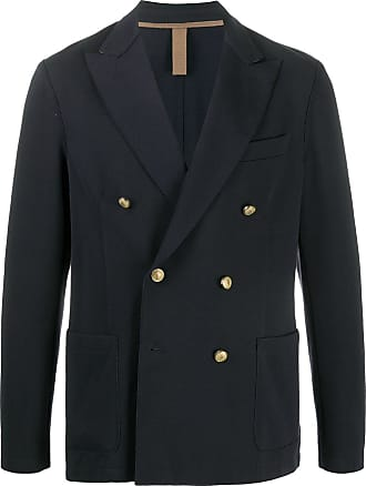 Eleventy long sleeve double-breasted jacket - Blue