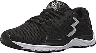 361° Womens 361-POISION Running Shoe, Black/White_0900, 6 M US
