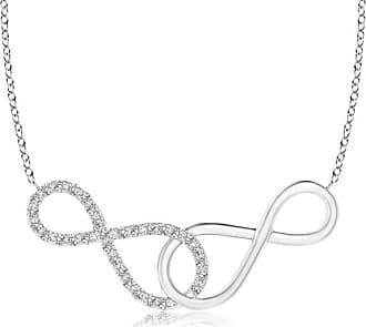 Angara Valentine Day Sale - Interlocking Diamond Sideways Infinity Necklace