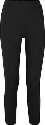 Eberjey Ula Waffle-knit Modal-blend Leggings - Black