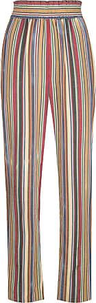 Oscar De La Renta striped high-waisted trousers - Multicolour