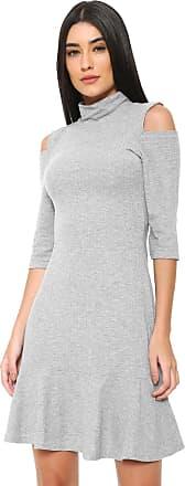 Nolita Lace Vestido Nolita Curto Off Shoulders Cinza